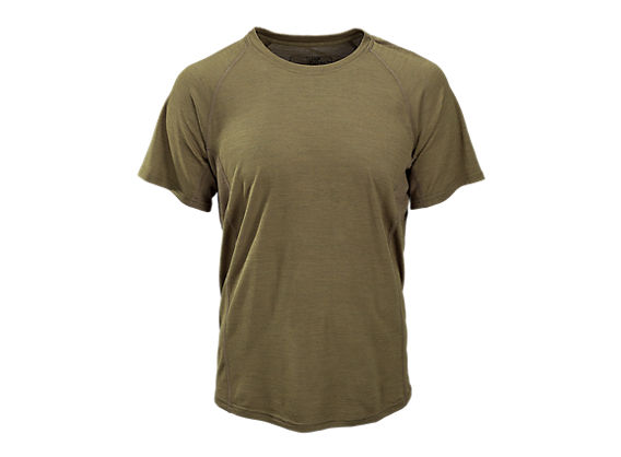 Merino Wool Base Layer Short Sleeve Tee, Coyote