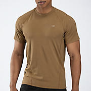 Stretch Performance Tee, Coyote with Brown