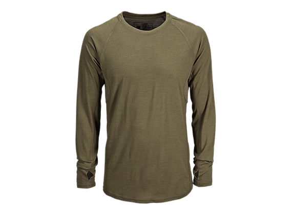 Merino Wool Base Layer Long Sleeve Tee, Coyote
