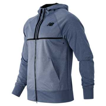 New Balance Bonded Tech Fleece Hoodie, Crater Heather