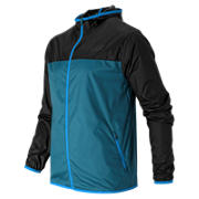 Windcheater Jacket, Deep Water with Black