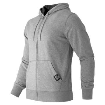 New Balance Full Zip Fleece Hoodie, Athletic Grey