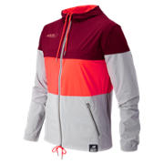 HOCR 90s Run Windbreaker, Burgundy with Flame & Silver Mink