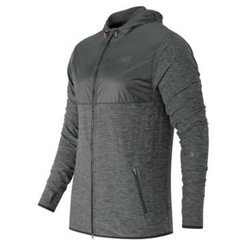 New Balance N Transit Hoodie, Heather Charcoal with Black