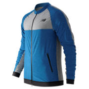 N Transit Track Jacket, Sonar Heather with Athletic Grey Heather