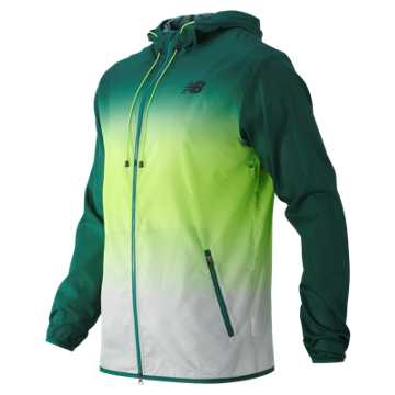 New Balance Windcheater Hybrid Jacket, Juniper with Toxic