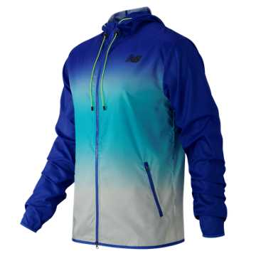 New Balance Windcheater Hybrid Jacket, Pacific with Bayside