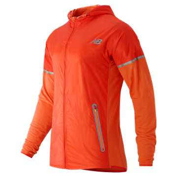 New Balance Performance Merino Hybrid Jacket, Lava with Fireball