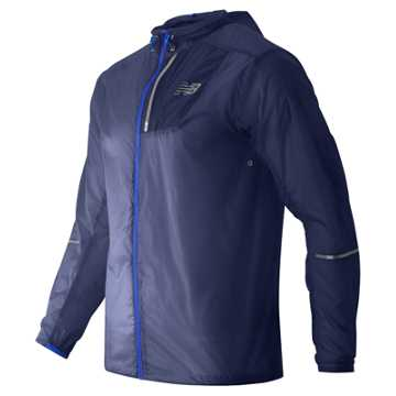 New Balance Lite Packable Jacket, Abyss with Bayside