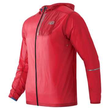 New Balance Lite Packable Jacket, Bright Cherry
