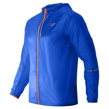 New Balance Lite Packable Jacket, Sonar with Lava