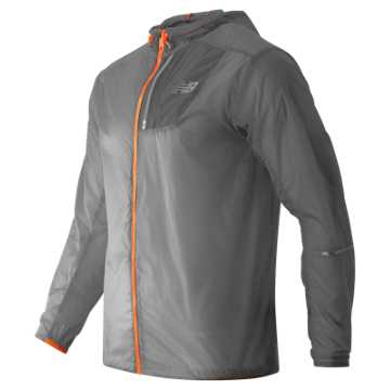 New Balance Lite Packable Jacket, Silver Mink with Impulse