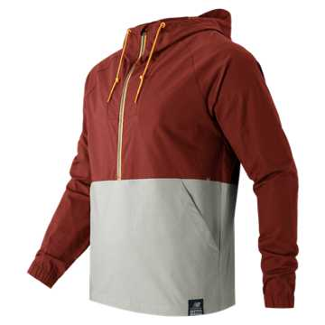 New Balance Anorak Jacket, Clay Red