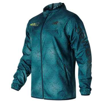New Balance HOCR Windcheater Jacket, Riptide with Firefly