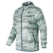 New Balance Windcheater Jacket, Wood with Light Grey