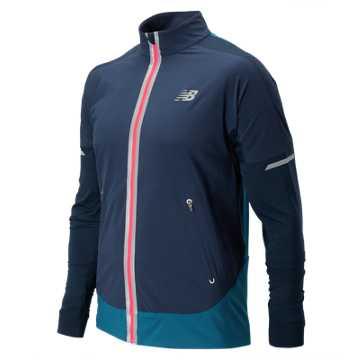 New Balance Precision Run Jacket, Galaxy with Castaway & Bright Cherry