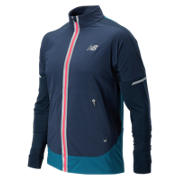 New Balance Precision Run Jacket, Galaxy with Castaway & Bright Cherry