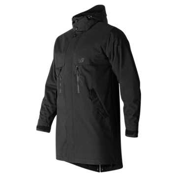 New Balance Mens Drop Tail Jacket, Black