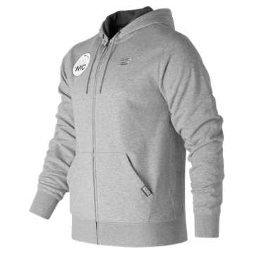 New Balance United NYC Half Full Zip Hoodie, Athletic Grey