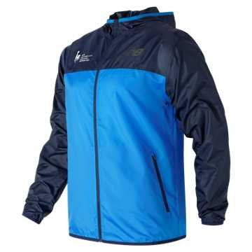 New Balance NYC Marathon Training Jacket, Electric Blue with Pigment