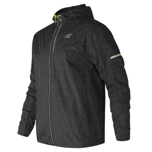 New Balance : Reflective Lite Packable Jacket : Men's Performance : MJ71203BK