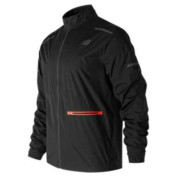 New Balance Precision Run Jacket, Black with Red