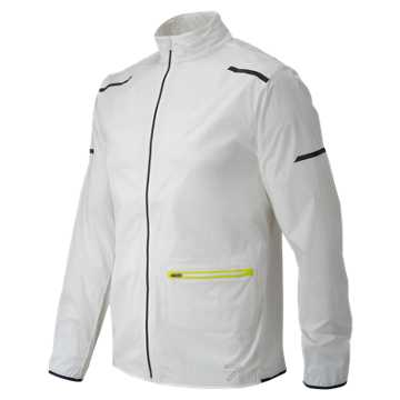 New Balance J.Crew Precision Run Jacket, White