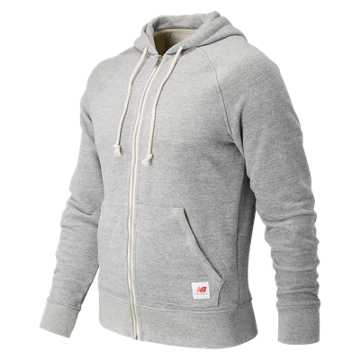New Balance MiUSA Classic Full Zip Hoodie, Athletic Grey