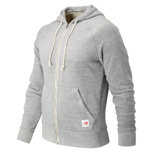 New Balance : MiUSA Classic Full Zip Hoodie : Men's Apparel Outlet : MJ71514AG