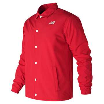 New Balance Classic Coaches Jacket, Alpha Red