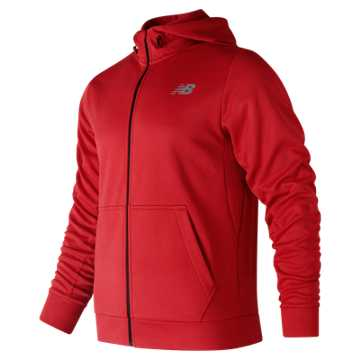 NB CoreFleece Full Zip Hoodie, Team Red