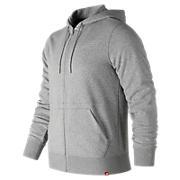 Essentials Full Zip Hoodie, Athletic Grey