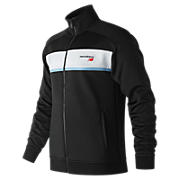 NB Athletics Track Jacket, Black with White