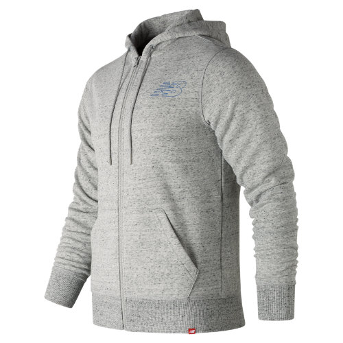 New Balance Heather Full Zip Hoodie Boy's Casual - MJ81556HG