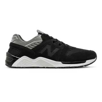 New Balance 009 Suede, Black with Gunmetal