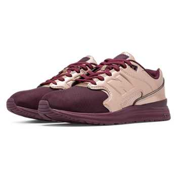 New Balance 1550 Metallic, Burgundy with Metallic Rose