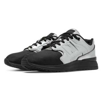 New Balance 1550 Metallic, Black with Metallic Silver