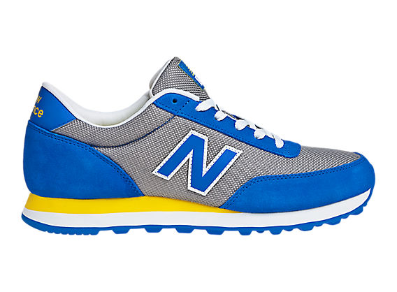 New Balance 501, Blue with Silver