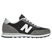 New Balance 501, Black with Grey & White