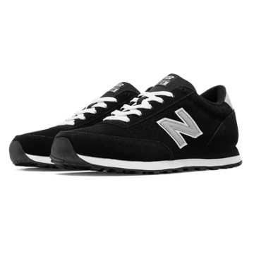 New Balance 501 New Balance Suede, Black with Silver