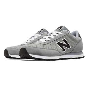 New Balance 501 New Balance Suede, Grey with Black