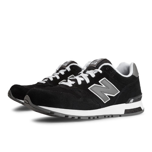 565 New Balance Suede Men's Running Classics Shoes - Black, Grey, White (ML565BC)
