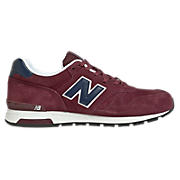 New Balance 565, Burgundy with Navy & White