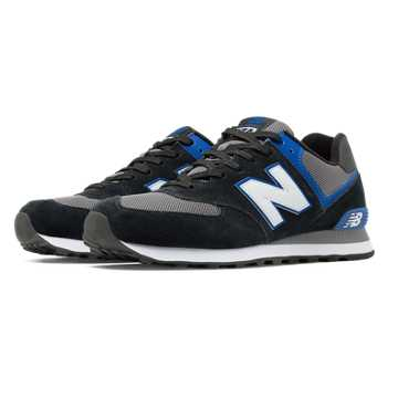 New Balance 574 New Balance, Black with Blue & Grey