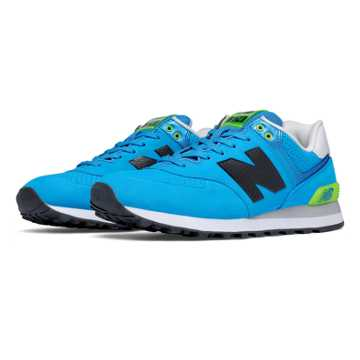 New Balance 574 Paint Chip, Sonar with Green