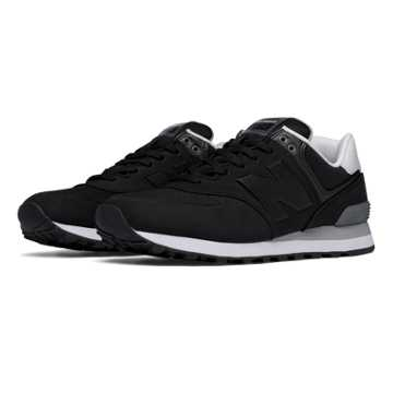 New Balance 574 Paint Chip, Black with Grey & White