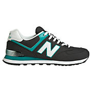 Alpine 574, Black with Turquoise & White
