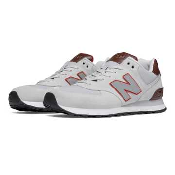 New Balance 574 Cruisin, Grey with Vitamin Orange & White
