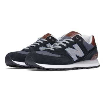 New Balance 574 Cruisin, Black with Grey & Brown