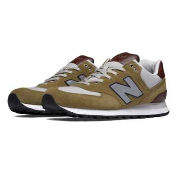 New Balance 574 Cruisin, Green Olive with Grey & Brown